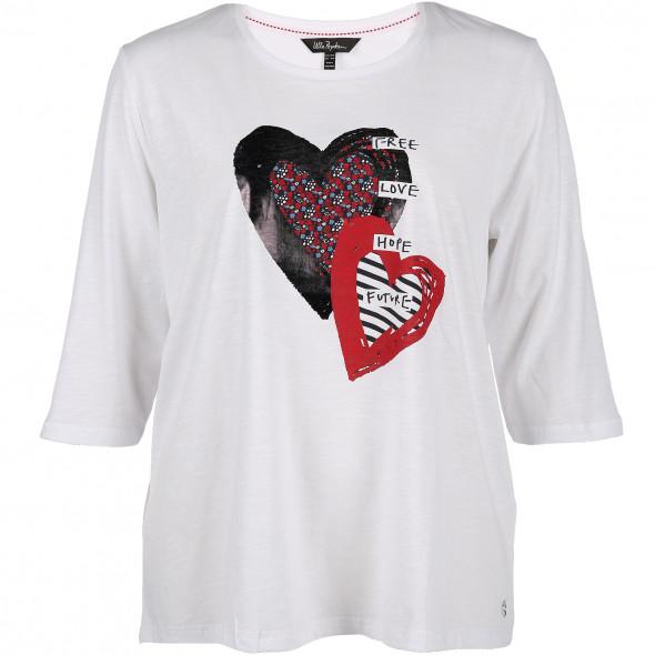 Große Größen T-Shirt mit Herzdruck