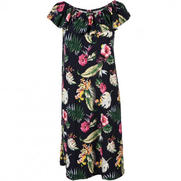 Damen Sommerkleid mit Carmen Ausschnitt