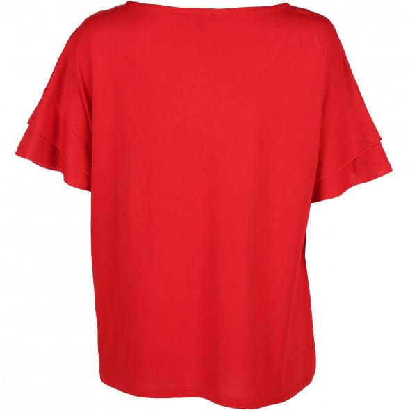 Damen T-Shirt mit Volantärmeln