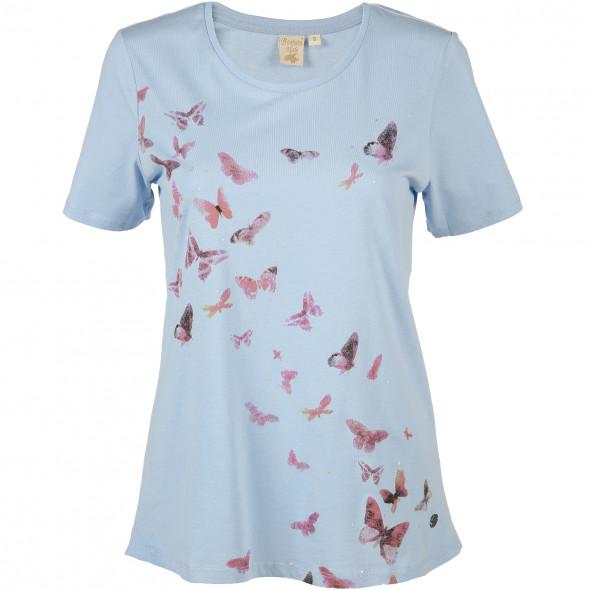 Damen Landhaus Shirt mit dezentem Print