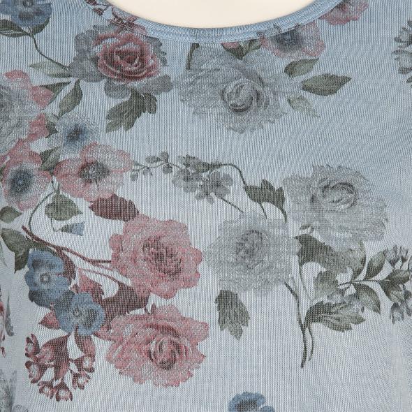 Damen Langarmshirt mit floralem Print