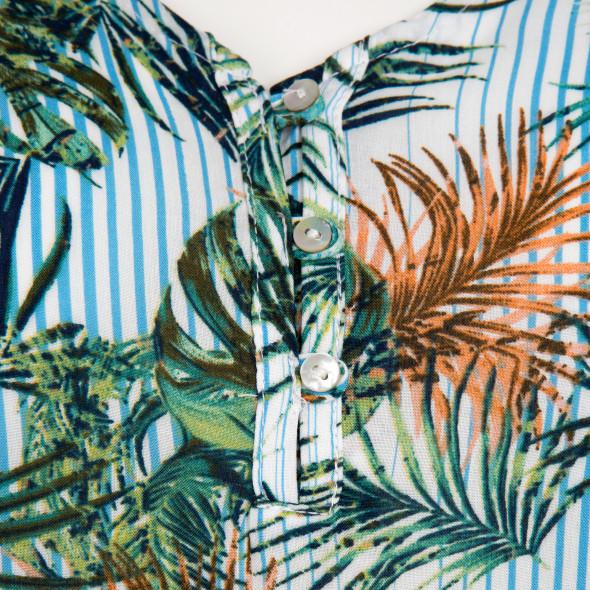 Damen Schlupfbluse mit Allover Print