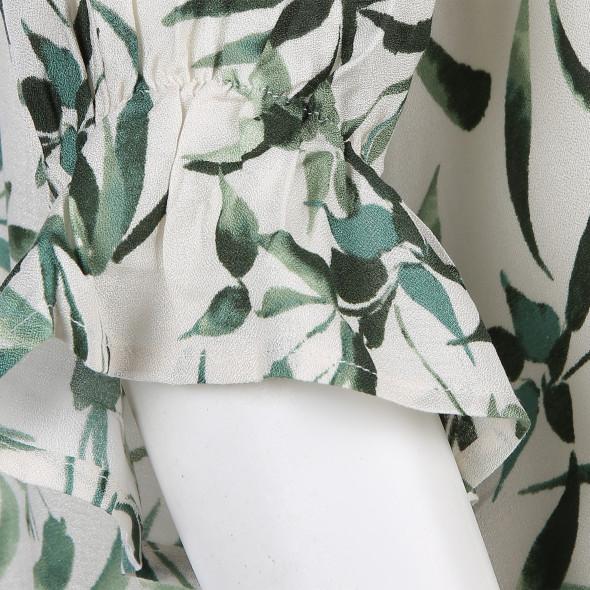 Damen Bluse im Blätterprint