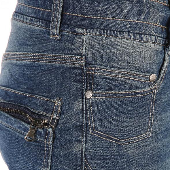 Herren Jeans Shorts mit vielen Details