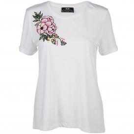 Damen Shirt mit Print und Pailletten