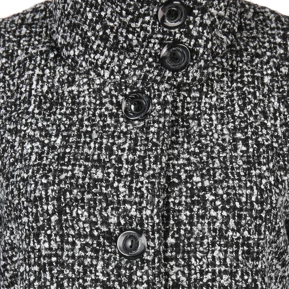 Damen Wollmantel mit Stehkragen