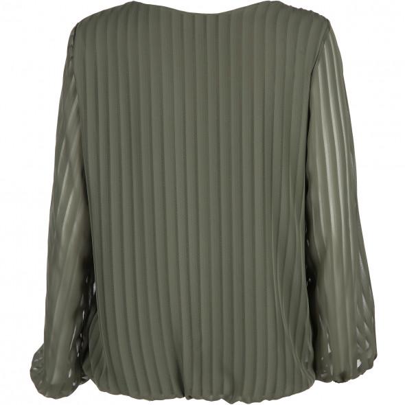 Damen Bluse mit dezenter Streifen Optik