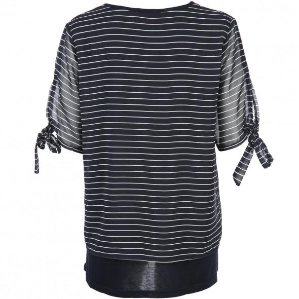 Damen Doppelshirt mit Streifen