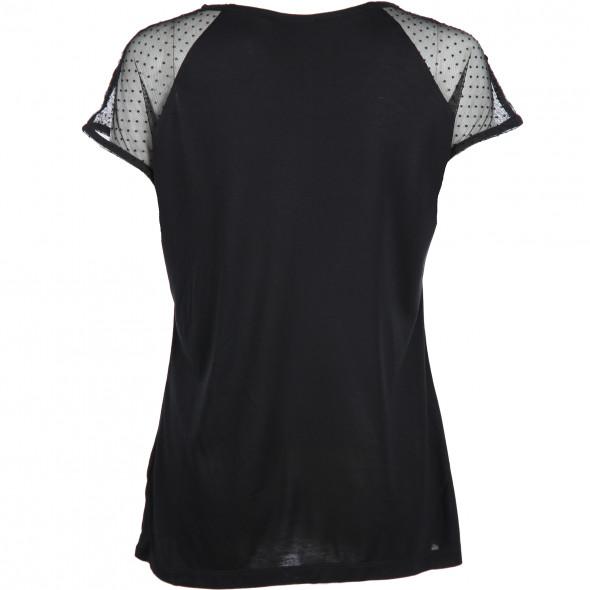 Damen Shirt mit Spitze und Samt