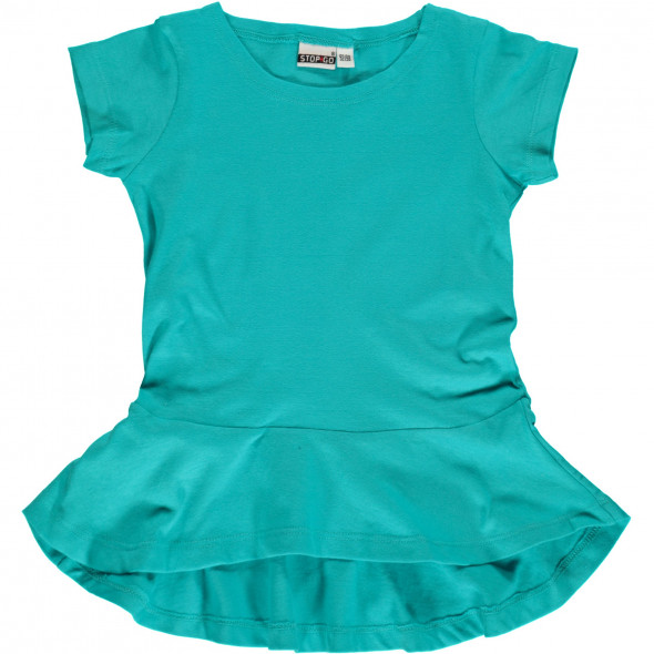 Mädchen T-Shirt mit Schößchen-Effekt