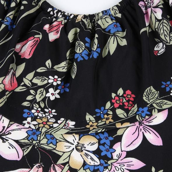 Damen Kleid mit Carmen Ausschnitt