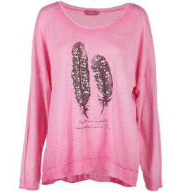 Damen Federprint Shirt