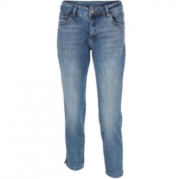 Damen Capri Jeans mit Ziernieten