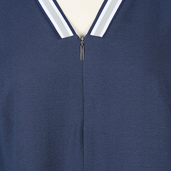 Große Größen Bluse mit Rippeneinsatz