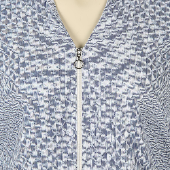 Große Größen Bluse mit Reißverschluss