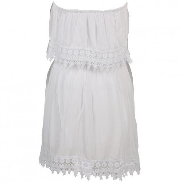 Damen Kleid mit Spitzenbesatz