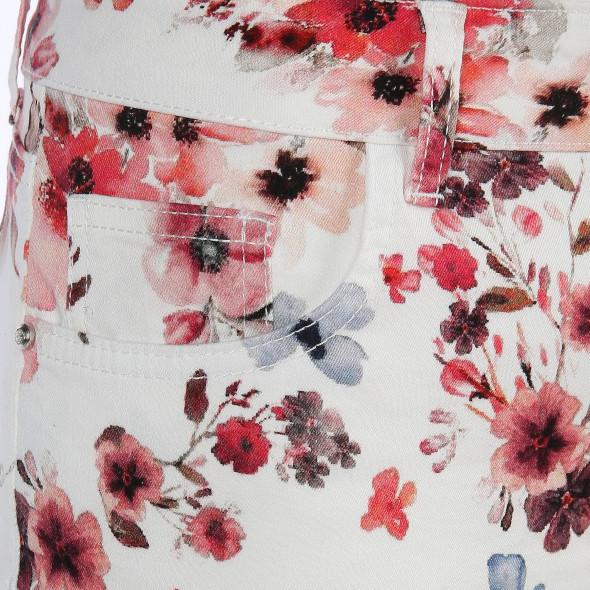 Damen Hose in 7/8 Länge mit Blumenprint