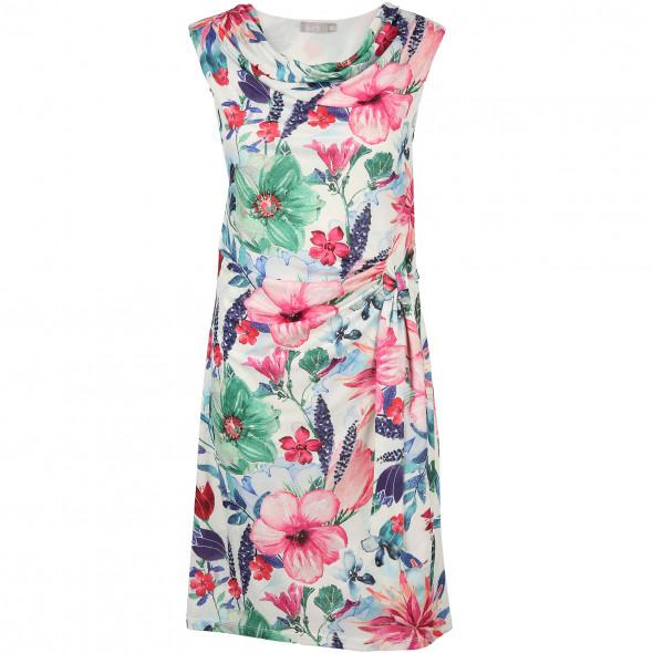 Damen Jerseykleid mit floralem Druck