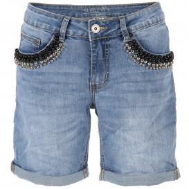 Damen Shorts mit Perlenbesatz