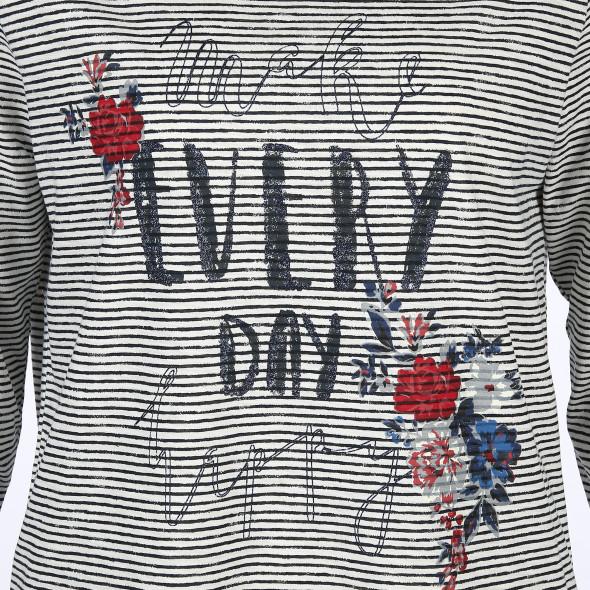 Große Größen Shirt mit Glitzer Print