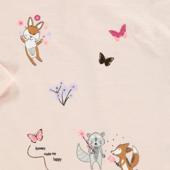 Baby Mädchen Shirt mit lustigen Prints