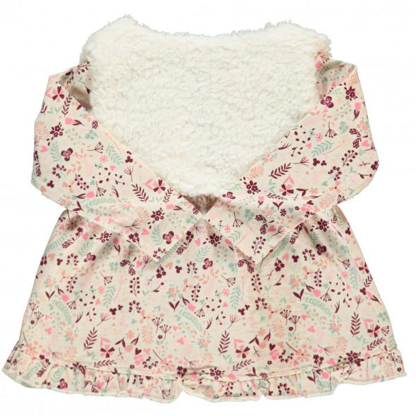 Baby Mädchen Kleid mit Kuschelweste