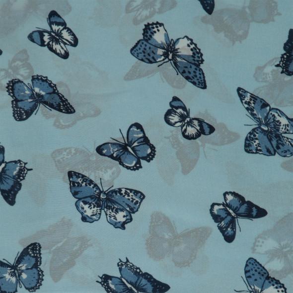 Damen Loop mit Schmetterlingen