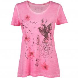 Damen Landhaus Shirt mit Strasssteinchen