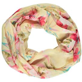 Damen Loopschal mit floralem Design