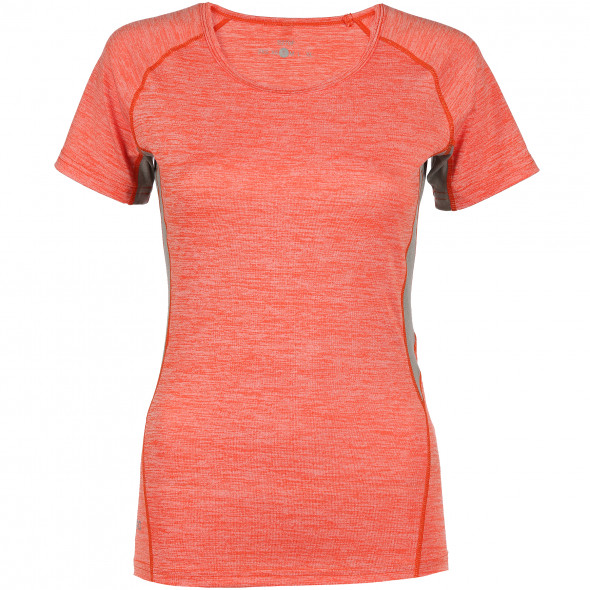 Damen Sport-T-Shirt in melierter Optik