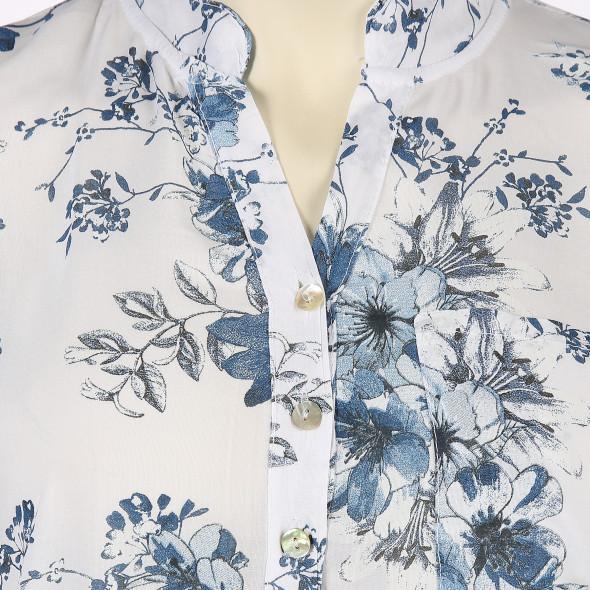 Große Größen Bluse mit Blumenmuster