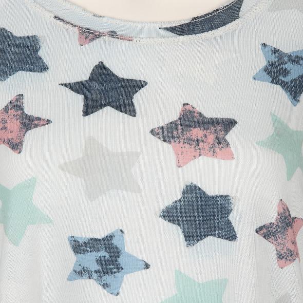 Damen Shirt mit Sternen Print