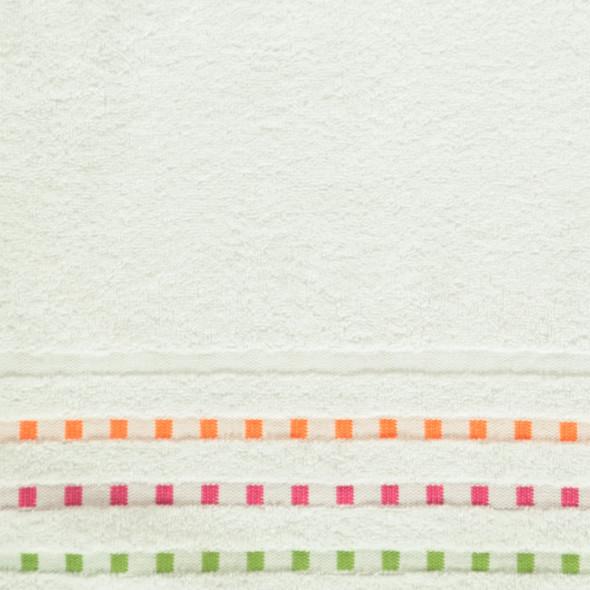 Frottier Duschtuch mit Kästchenbordüre 70x130cm