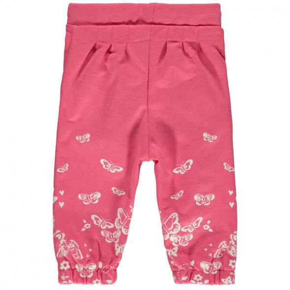 Baby Jogginghose mit floralem Print