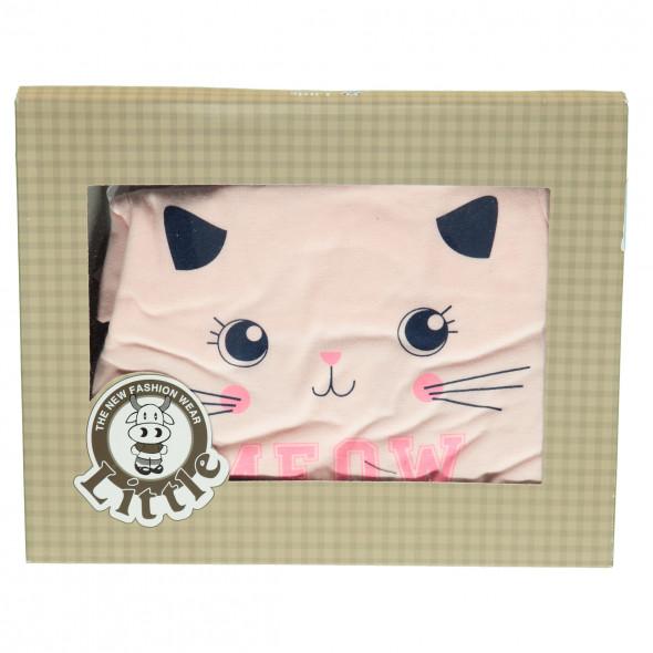 Baby Mädchen Strampler mit Katzenprint
