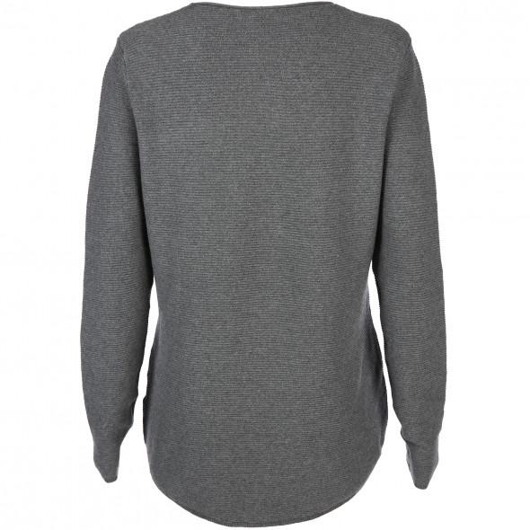 Damen Pullover in Ripp-Strick