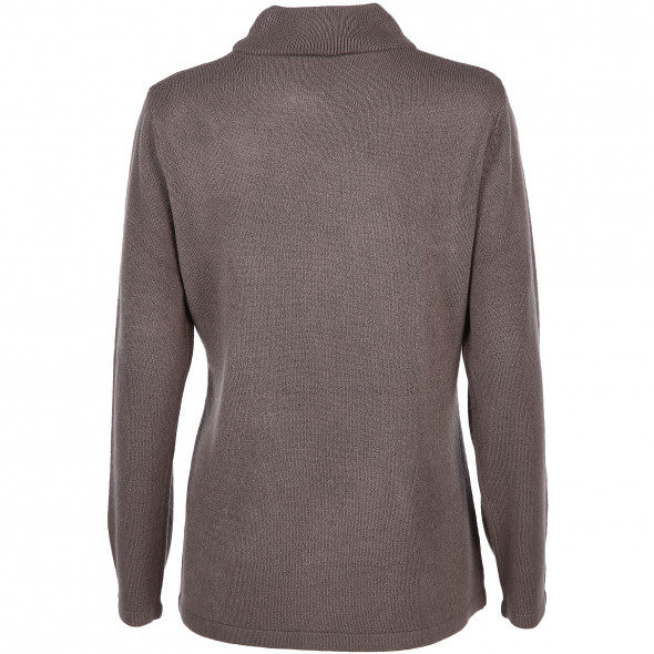 Damen Turtleneck Pullover Cashmere-Like