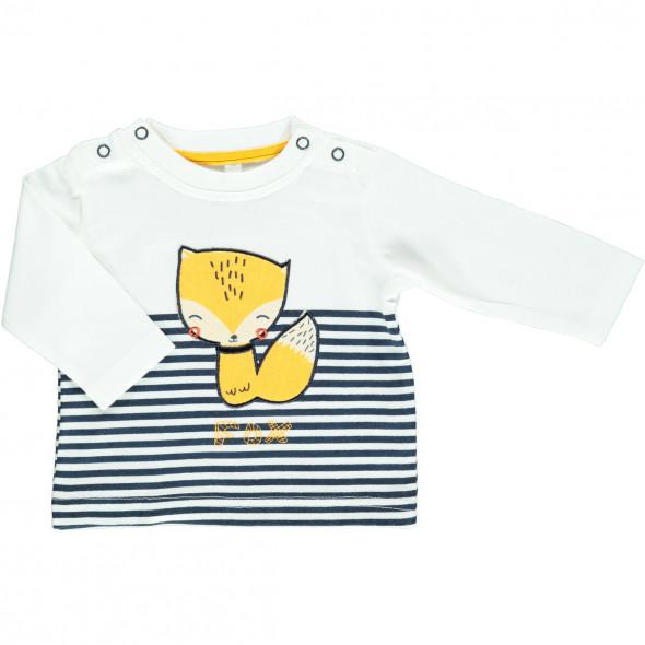 Baby Langarmschirt mit Stickerei-Applikation