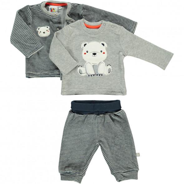 Baby Outfit 3tlg., best. aus Hose, Shirt und Jacke