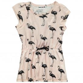Mädchen Sommerkleid mit Flamingoprint