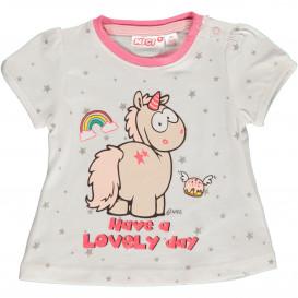 Baby Mädchen Shirt mit Einhorn Frontdruck