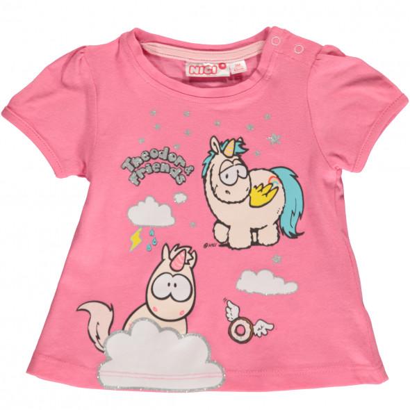 Baby Mädchen Shirt mit Einhorn Frontprint