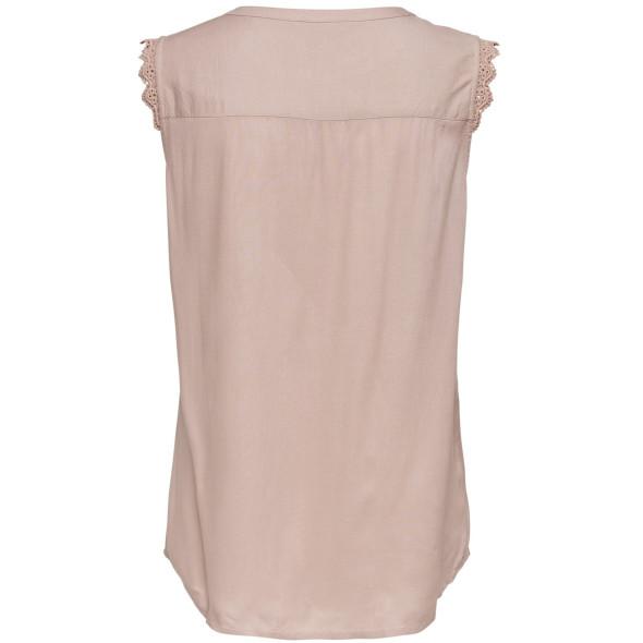 Damen Only Bluse mit kleiner Spitzenborte