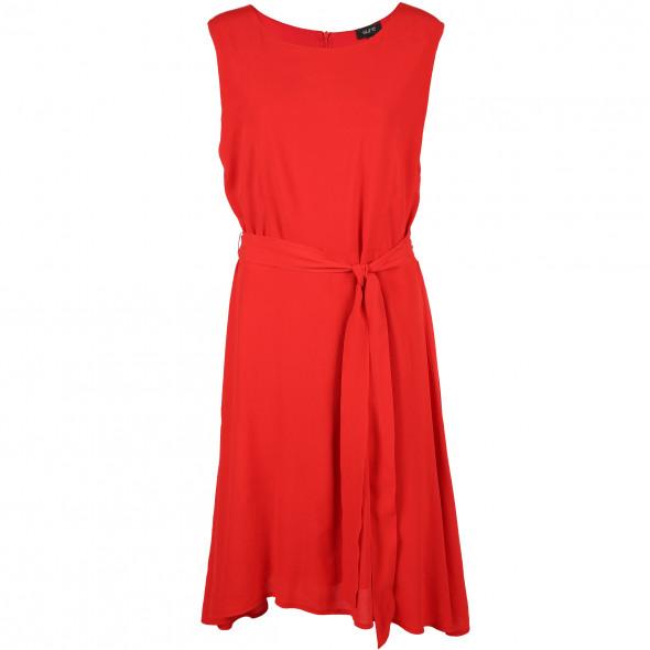 Damen Chiffon Kleid mit Bindegürtel