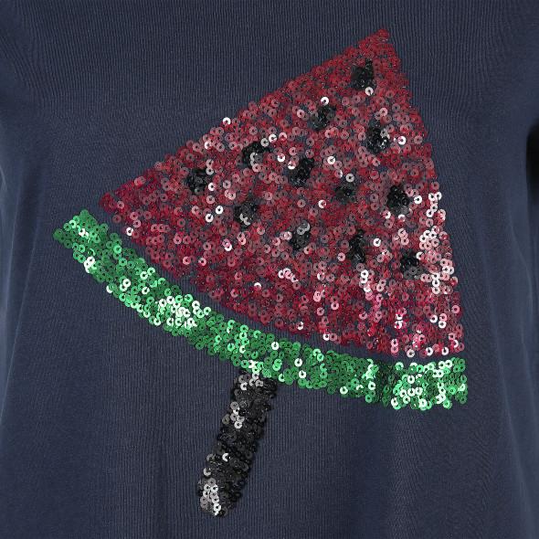 Damen T-Shirt mit Paillettenapplikation