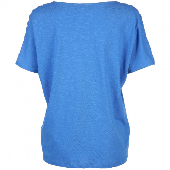 Damen T-Shirt mit Schulterverzierung