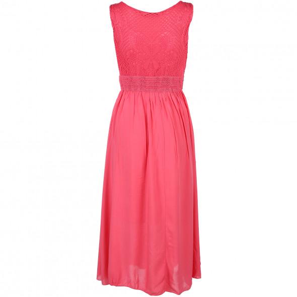 Damen Maxi Kleid mit Jerseyspitze