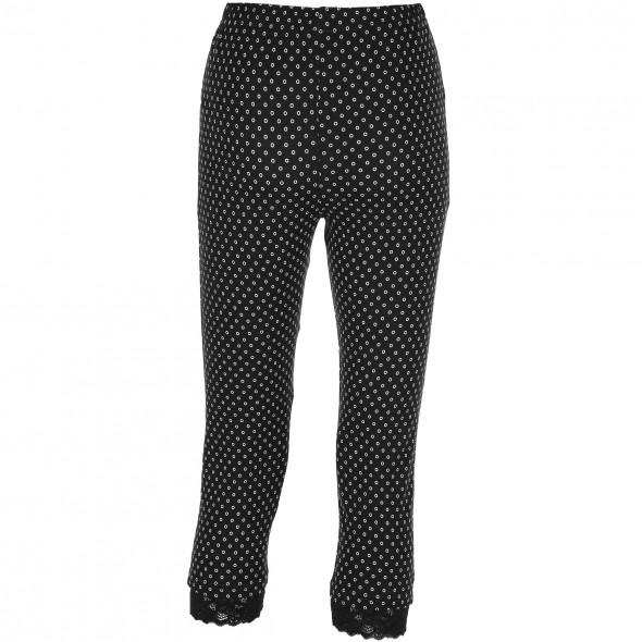 damen capri leggings mit spitze schwarz awg mode. Black Bedroom Furniture Sets. Home Design Ideas