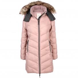 Damen Mantel mit Kapuze und Fake Fur