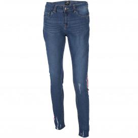 Damen Skinny Jeans mit Galonstreifen